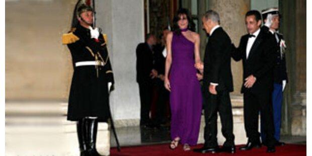 Staatsempfang als Bruni-Mode-Show