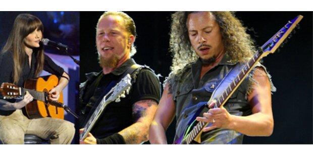 Bruni rockt mit Heavy-Metal-Band Metallica