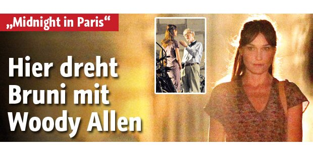 Hier dreht Woody Allen mit Carla Bruni