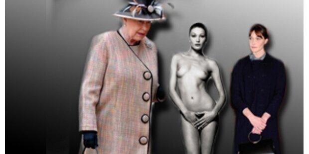 Madame Bruni-Sarkozy war gestylt für die Queen