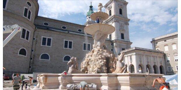 Residenzbrunnen Salzburgs im neuen Glanz