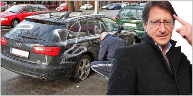 Buchers Audi A6 von Vandalen beschmiert