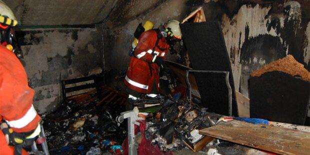 Bub (11) rettet sich aus brennender Wohnung