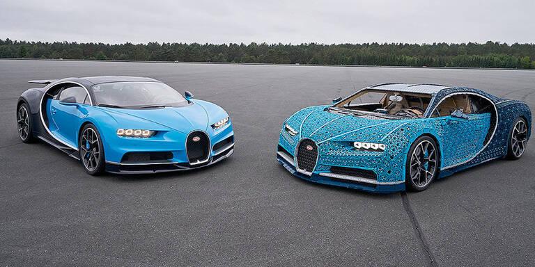 Genial: Lego baute Bugatti im Maßstab 1:1