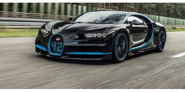Bugatti Chiron mit neuem 0-400-0-km/h-Rekord