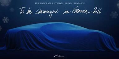 Bugatti zeigt erstes Foto vom Chiron