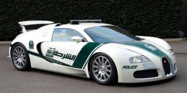 Jetzt fährt Dubais Polizei auch Bugatti