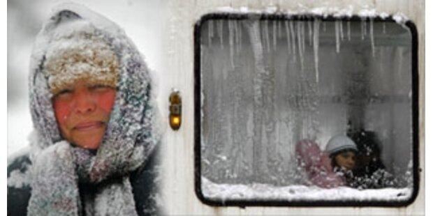 Südosteuropa von Kältewelle erfasst