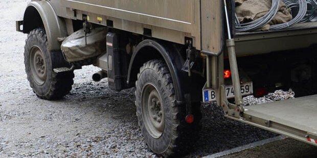 Bundesheer-Lkw tötet Radfahrer