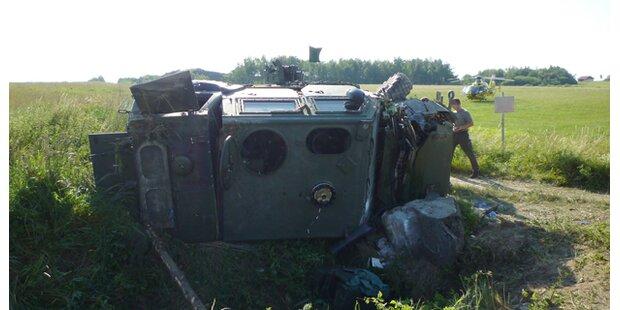 Soldat bei Unfall schwer verletzt