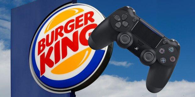 Zocker können mit PS4 bei Burger King bestellen