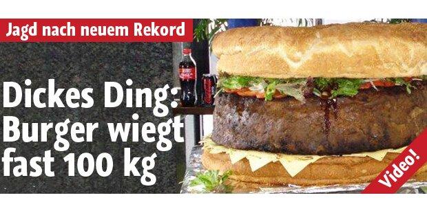 Monsterburger wiegt knapp 100 Kilo