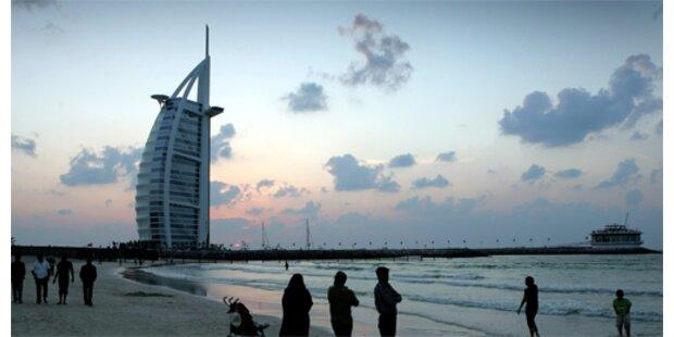 Silhoutte eines Arabers als Wolkenkratzer-Vorlage