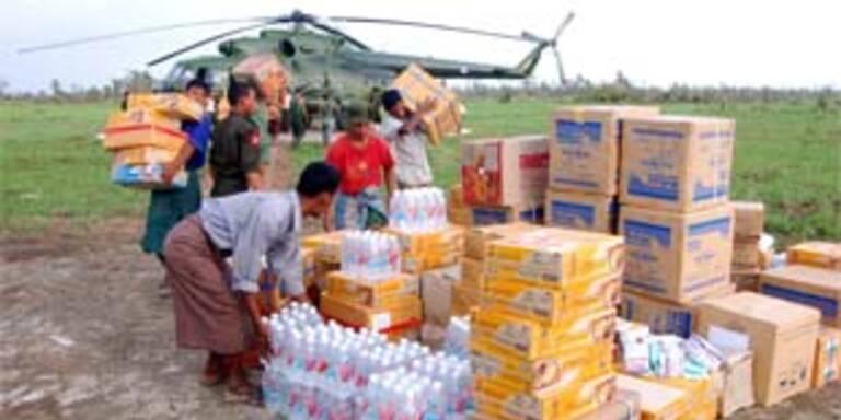 Burma betreibt Etikettenschwindel mit Hilfsgütern