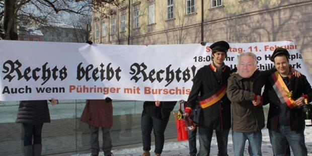 Burschenbundball: Proteste in Linz