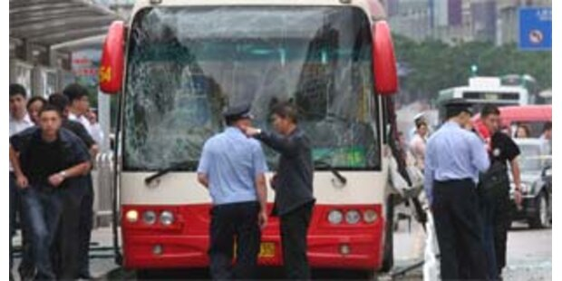 Drei Tote bei Busexplosionen in China