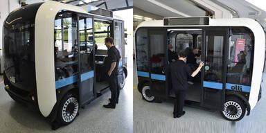 Selbstfahrender Minibus aus dem 3D-Drucker