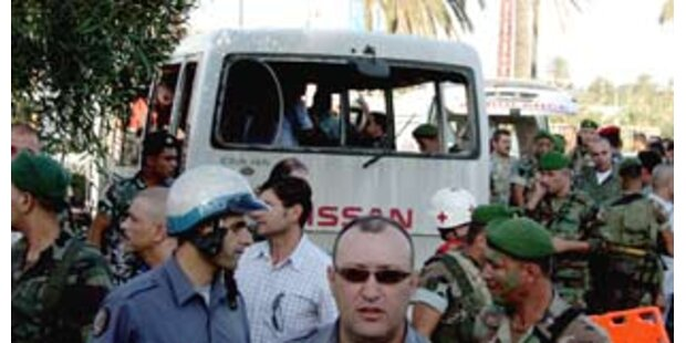 Mindestens sechs Tote nach Anschlag im Libanon