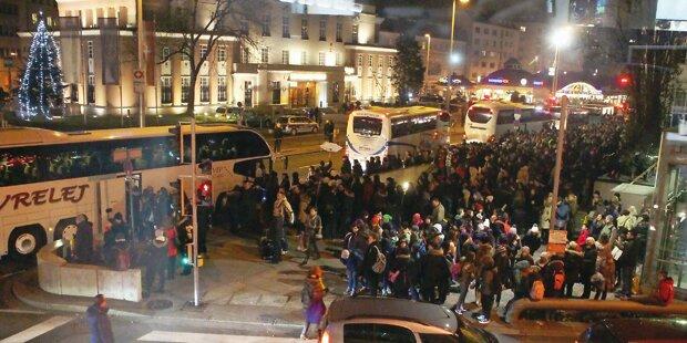 Bus-Chaos legte Wien lahm