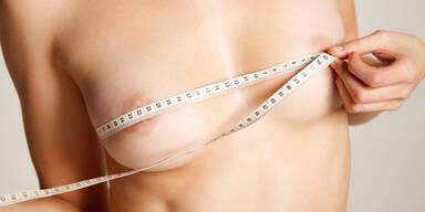 Brust, Busen, Maßband, Titten, abmessen