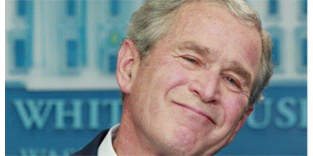 Ex-Präsident Bush als Empfangschef im Baumarkt