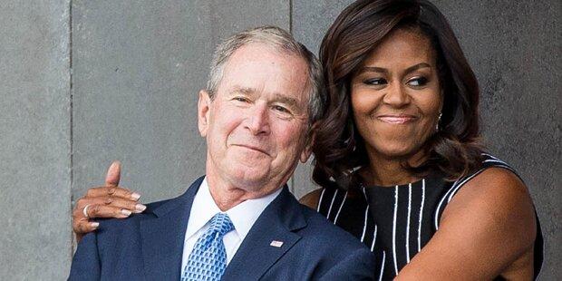 Bush und Obama: Internet lacht über dieses Foto