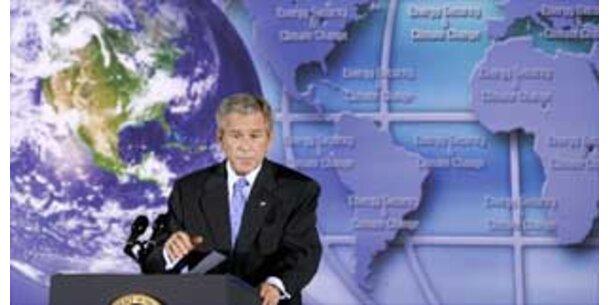 Bush nennt nur vage Ziele auf Klimagipfel