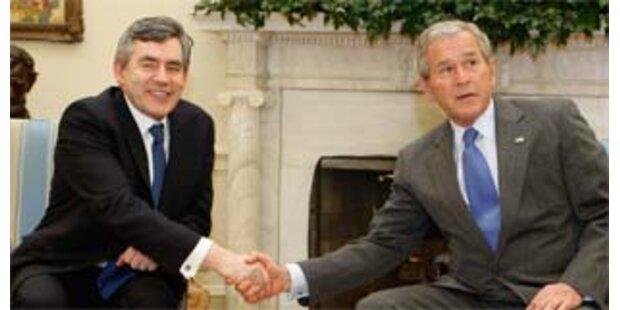Bush und Brown bei harter Haltung zum Iran einig
