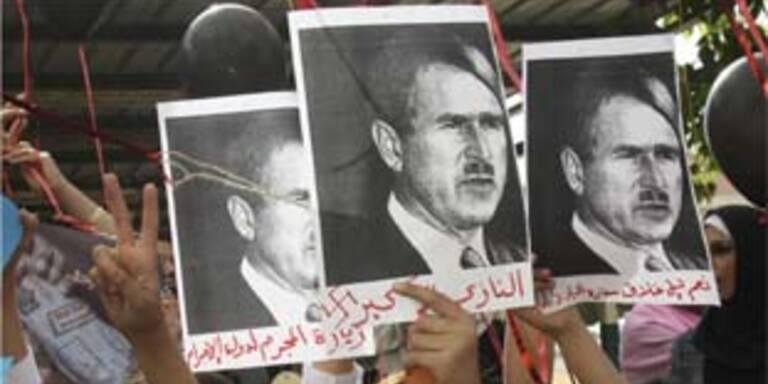 Heftige Proteste gegen Bush in Palästina