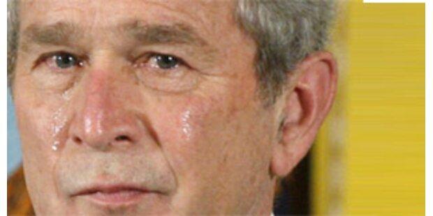 Bush weint um getöteten Soldat im Irak