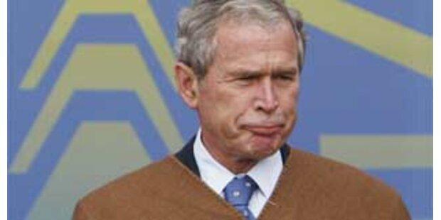 Bush versucht sein Aus mit Humor zu nehmen