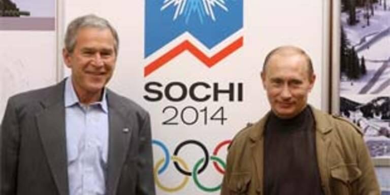 Wladimir Putin und George Bush in Sochi