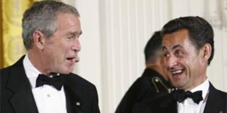 Sarkozy präsentiert sich als enger Freund der USA