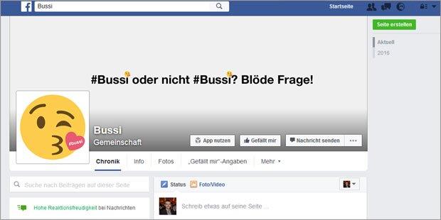 Facebook-Hype um #bussi