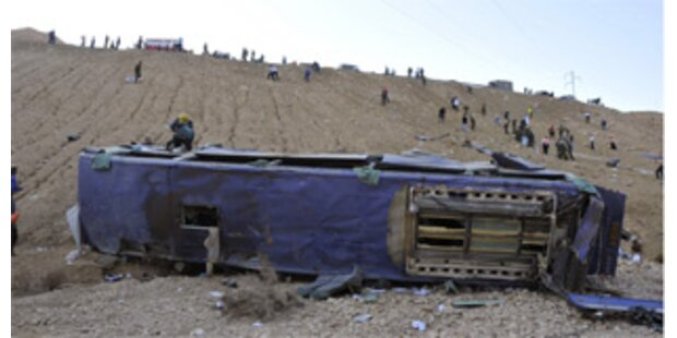 24 Tote bei schwerem Busunfall in Israel