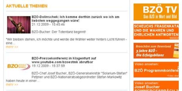BZÖ-Homepage gehackt
