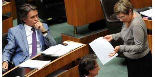 Orange schwänzen Nationalrats-Sitzung