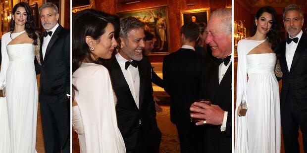 Clooneys: Liebesauftritt bei Charles