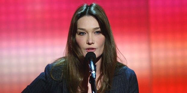 Carla Bruni singt Geldof-Hit