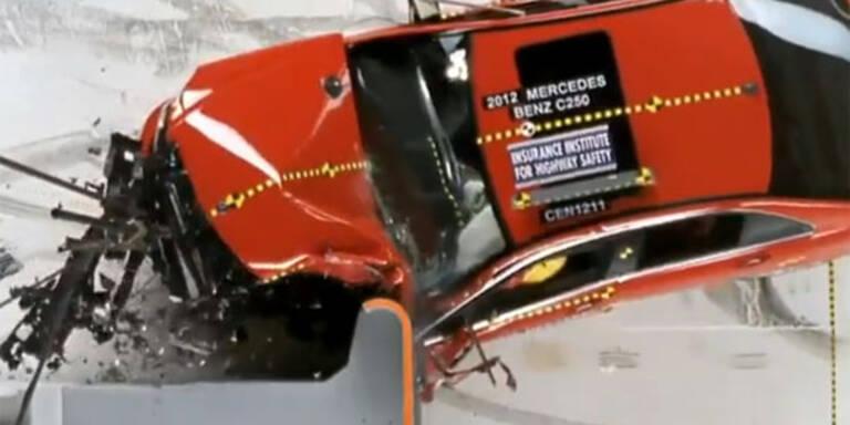 US-Crashtest: Deutsche Nobelautos versagen