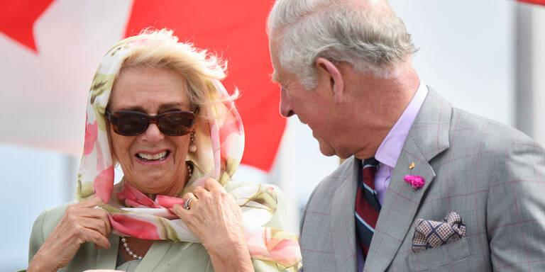Charles und Camilla: Heftiger Lachanfall