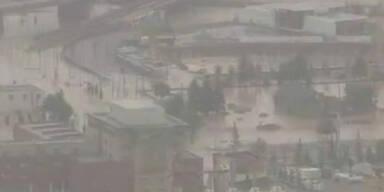 Olympiastadt Calgary versinkt in Fluten