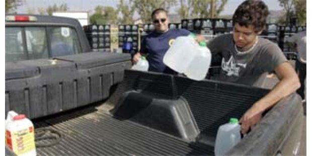 Rückkehrer in Kalifornien ohne Strom und Wasser