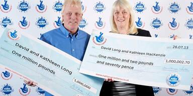 Ehepaar gewinnt zwei Mal Millionen im Lotto