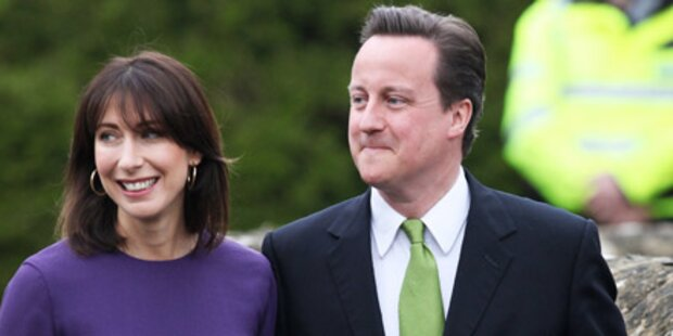 Briten-Premier Cameron erneut Vater