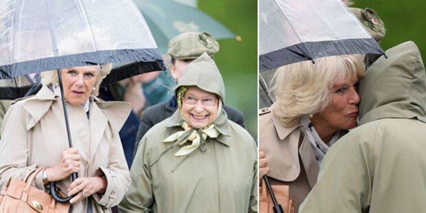 Camilla: Ein Bussi für die Queen