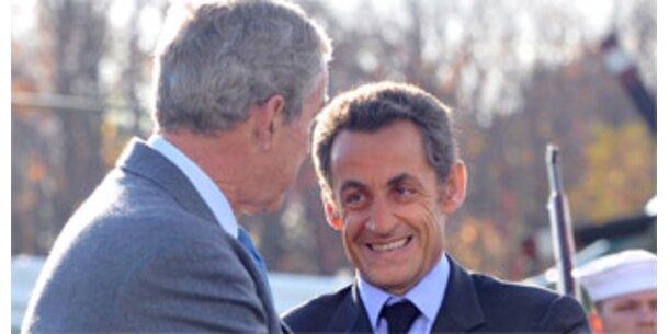 Sarkozy überredet Bush zu Finanzgipfeln
