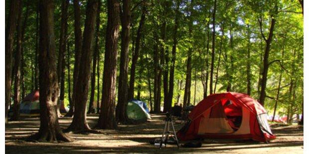 Campingplatz wirbt mit