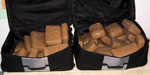 Drogenkurier mit 38 Kilo Cannabis verhaftet