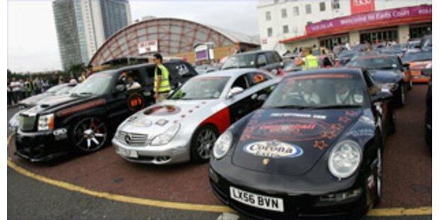 Illegales Autorennen in Deutschland gestoppt